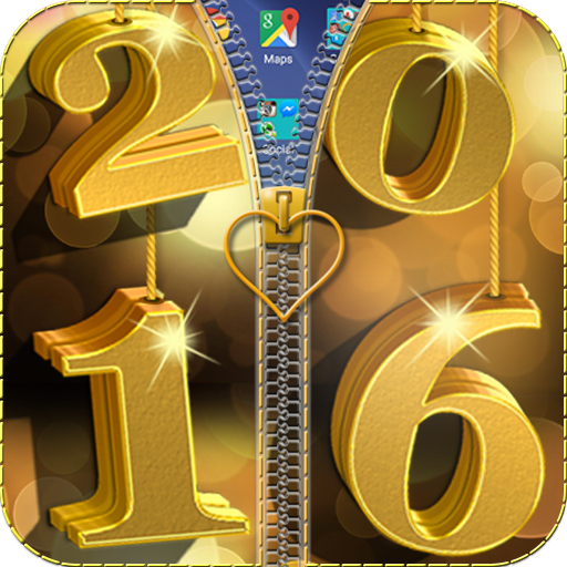 New Year 2016 Zipper Lock