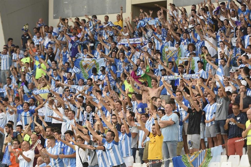 La afiición del Málaga.
