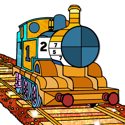 Trains Paint By Number Glitter Crayon Coloring Google Play