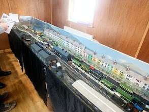 Photo: 012 I was pleased to see Martyn Davies's 009 West Gwynnedd Railway on its first exhibition outing, as I had previously enjoyed looking at his attractive computer printed rolling stock on his demonstration stand the last time I visited this show in 2012. The layout features the fictitious town of Porth-y-Castell on the Llyn Peninsula in the 1950's .