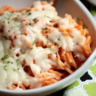 Creamy Baked Spaghetti.