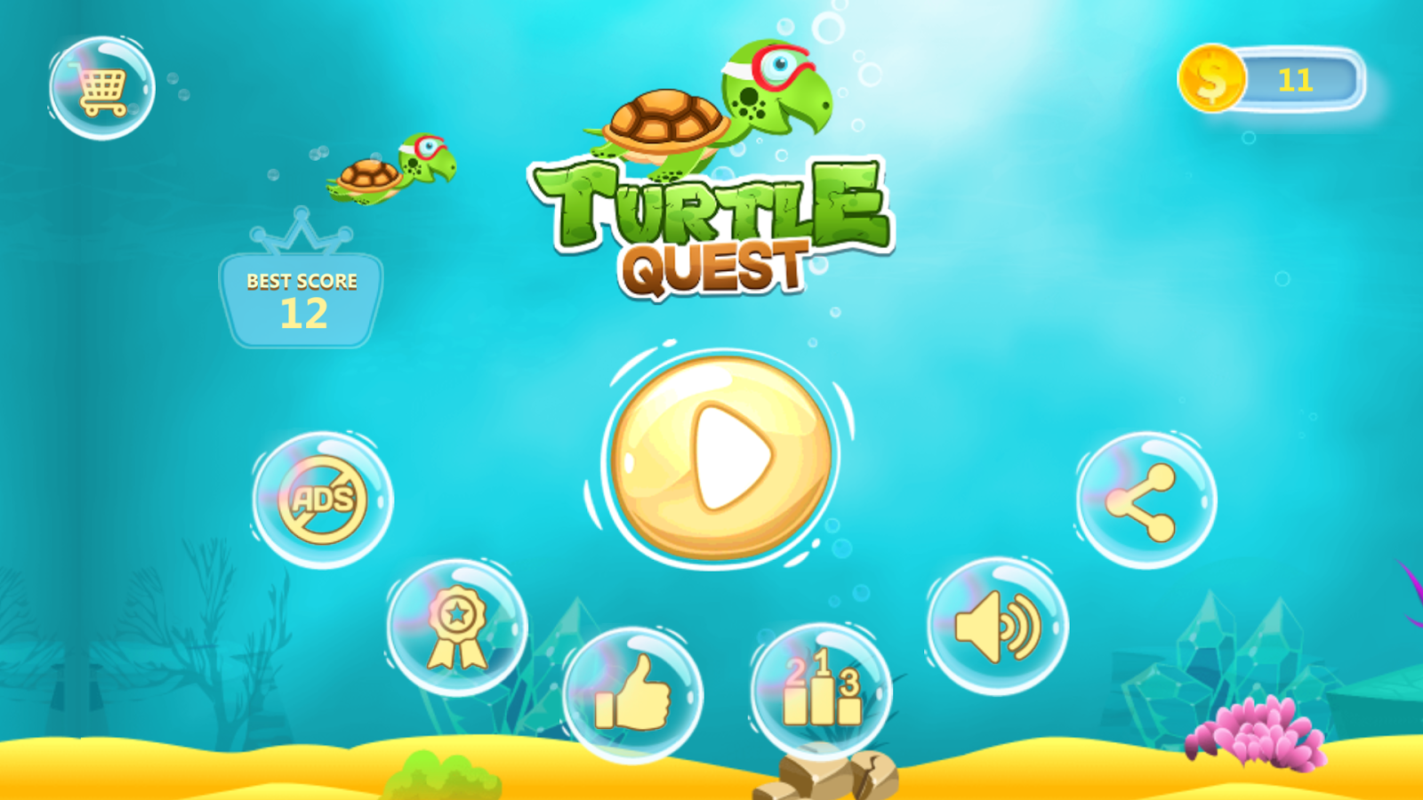 Turtle Quest - Clumsy Turtle- screenshot
