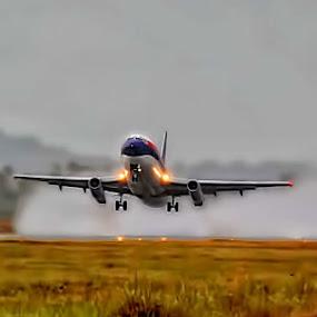 TAKE OFF by Fammz Fammudin - Transportation Airplanes ( airport, airplanes, transportation )