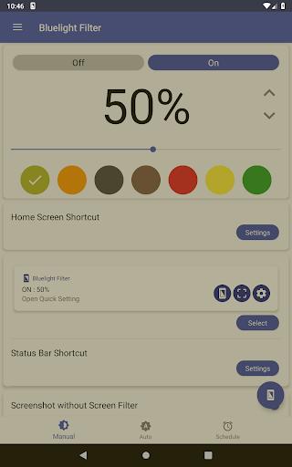 Bluelight Filter for Eye Care - Auto screen filter screenshot 18