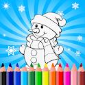 Christmas Drawing Pad Snowman icon