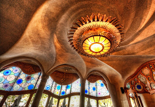 """Photo: The Gaudi Cheesecake Factory  I was stuck doing handheld shots all over this awesome Gaudi house because the PR staff would not let me use a tripod. They also said I was not allowed to post any photos of the house on my blog. I told them this was absolutely ridiculous and of course I would post photos on the blog. They said it was not ridiculous and I should really listen. I then said, """"But everyone else is here taking photos and posting on Facebook and Flickr!, right?"""" And they said, """"Oh, well, they shouldn't be doing that either.""""  from the blog at www.stuckincustoms.com"""