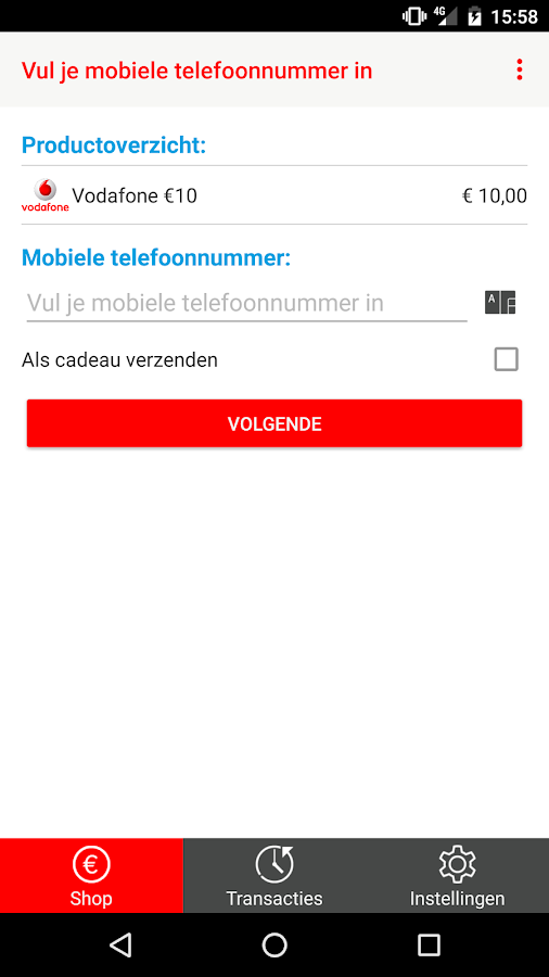 Vodafone - Prepaid- screenshot