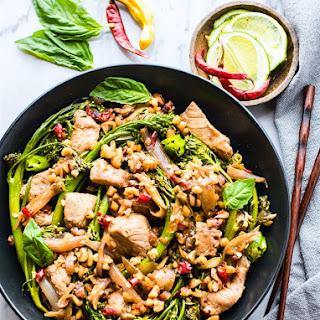 Easy Thai-Style Pork Broccolini Stir Fry {Paleo}.