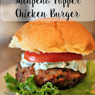 Jalapeno Popper Chicken Burgers with Jalapeno Cream Cheese.