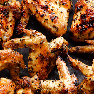 Herbed Grilled Chicken Wings.