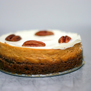 Bourbon Pumpkin Cheesecake.