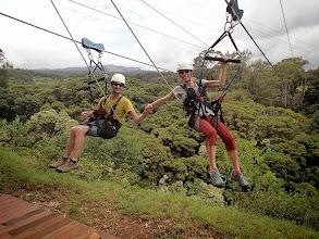Photo: Zip-lining (such fun!).