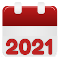 Calendar 2021 : agenda, events, reminders icon