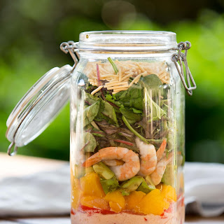 PRAWN MANGO SALAD IN A JAR