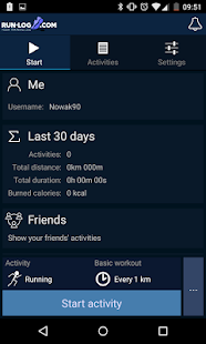 Running tracker - Run-log.com- screenshot thumbnail