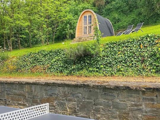 De pingpongtafel bij de Vakantievilla te Barvaux