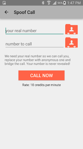 Spoof Call Screenshot