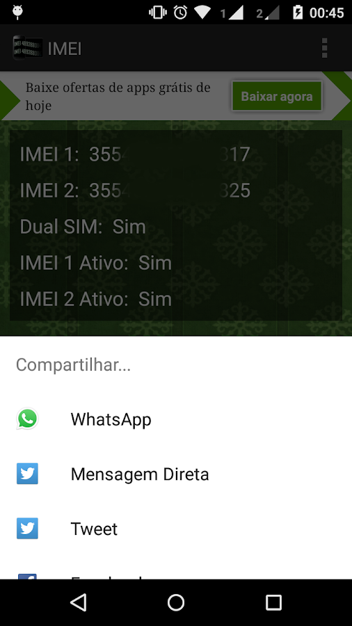 IMEI- screenshot