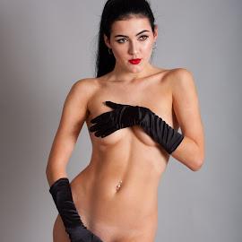 Black Gloves  by Mike Lloyd - Nudes & Boudoir Boudoir ( erotic, nude, girl, naked, people, fashion, women )