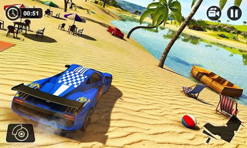Floating Water Surfer Car Driving – Beach Racing 4