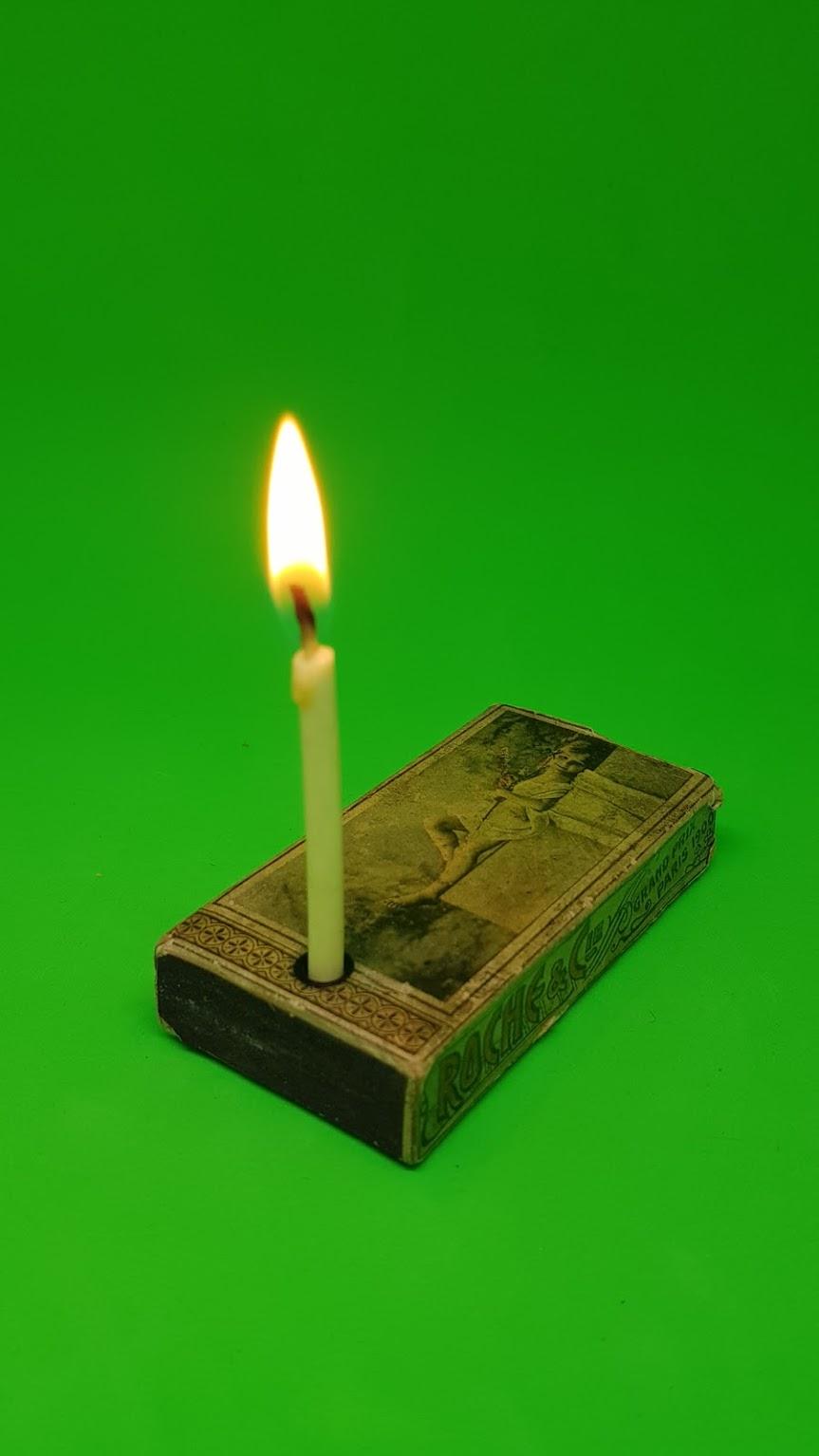 Match candles, Streichholzkerzen, Roche & Cie., Rue Caumartin 7, Paris, Grand Prix Paris 1900, Made in Belgium