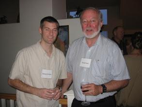 Photo: Assistant Professor Michael McBride and Professor Donald Saari