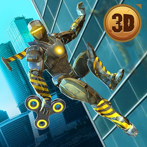 Super Ironhero Fidget Spinner City Rescue