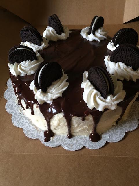 GF/V chocolate cream cake