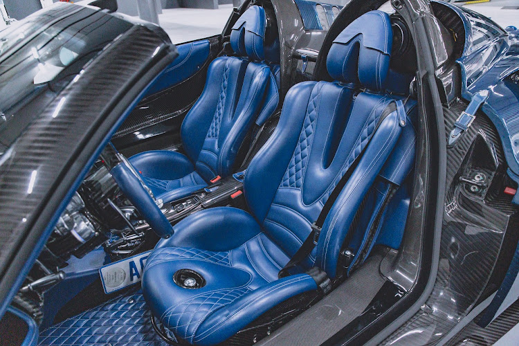 Extreme design features, inside and out, for an extreme car. Picture: SUPPLIED