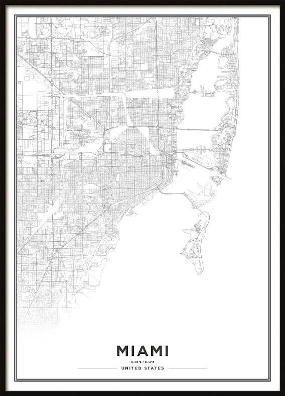 Karta Poster, Miami