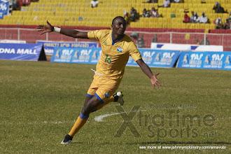Photo: Ernest SUGIRA (16) celebrate his penalty that put the Amavubi into the final of CECAFA 2015 [Rwanda vs Sudan, CECAFA 2015, Semi final, 3 Dec 2015 in Addis Ababa, Ethiopia.  Photo © Darren McKinstry 2015, www.XtraTimeSports.net]