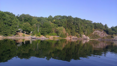 Photo: The shore of Parry Sound