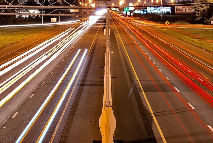 Nashville  I-24 by Kevin Wurm - City,  Street & Park  Street Scenes ( city, night )