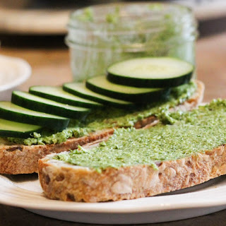 Dill and Goat Cheese Tartine Spread.