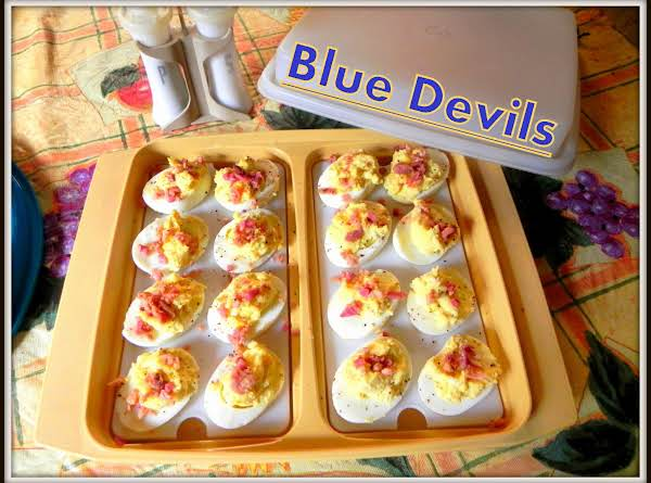 Blue devils deviled eggs recipe just a pinch recipes blue devils deviled eggs recipe forumfinder Gallery