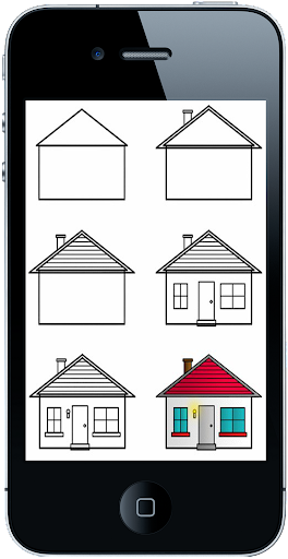 如何画房子