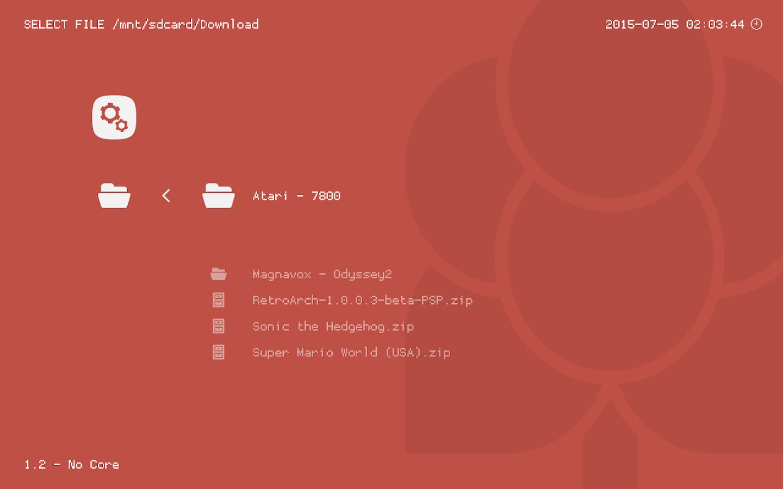 RetroArch- screenshot