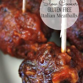 Slow Cooker Gluten Free Italian Meatballs