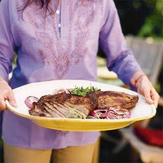 Grilled Salted Beef Brisket or Flank Steak.