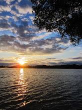 Photo: Beautiful sunset on the lake at Eastwood Park in Dayton, Ohio.