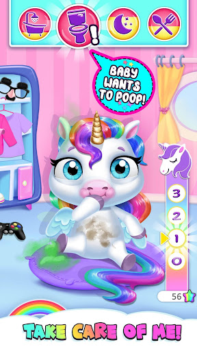 My Baby Unicorn - Cute Rainbow Pet Care & Dress Up 이미지[2]