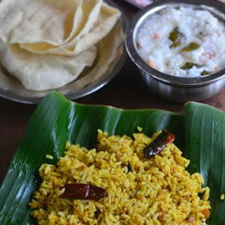 Puliyodharai-Tamarind Rice