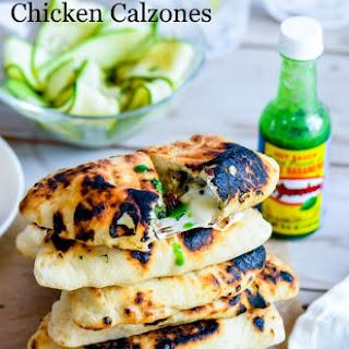 Grilled Hot Cheesy Chicken Calzone