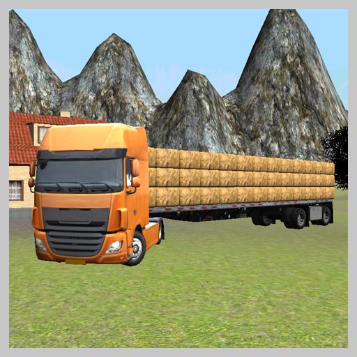 ファームトラック3D:干し草 模擬 LOGO-玩APPs