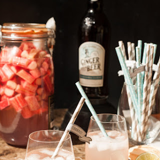 Rhubarb Schnapps Cocktail.