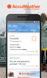 AccuWeather : Conditions & Alertes Météo en Direct Capture d'écran
