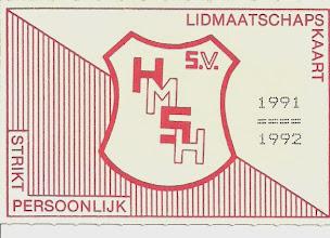 Photo: Lidmaatschapskaart 1991 - 1992 (voorkant)