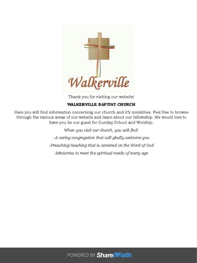 Walkerville Baptist-Blackshear- screenshot