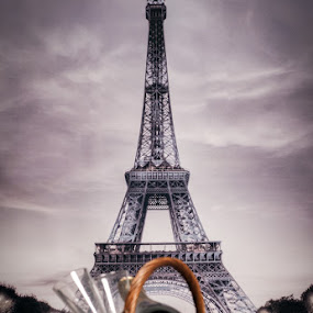 Picnic under the Eiffel Tower by Renata Horáková - Artistic Objects Still Life ( studio, eiffel tower, champagne, grapes, background )