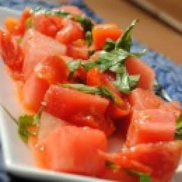 Hot Watermelon & Tomato Salad